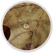 Fall Droplets Round Beach Towel