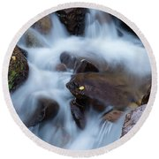 Fall Falls In Vail Round Beach Towel