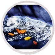 Fall Flotilla Round Beach Towel
