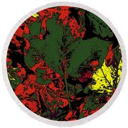 Fall Flourish 2 Round Beach Towel