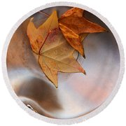 Fall Fountain Round Beach Towel