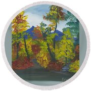 Fall In All Its Glory Round Beach Towel