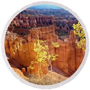 Fall In Bryce Canyon Round Beach Towel
