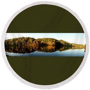 Fall In Indiana Round Beach Towel