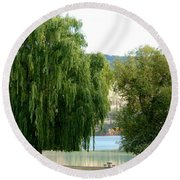 Fall In Kaloya Park 6 Round Beach Towel