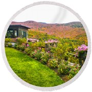 Fall In New Hampshire Round Beach Towel