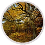 Fall In Pennsylvania Round Beach Towel