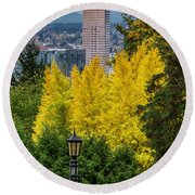 Fall In Portland Or 2 Round Beach Towel