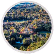 Fall In Shenandoah Valley Round Beach Towel