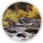 Fall In The Grand Tetons Round Beach Towel