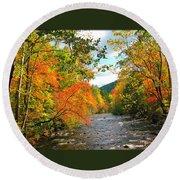 Fall In The Smokey Mountains  Round Beach Towel