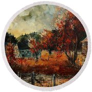 Fall In Vivy Round Beach Towel