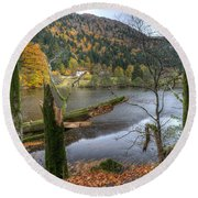 Fall In Vosges National Park Round Beach Towel