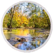 Fall In Wisconsin Round Beach Towel by Steven Santamour
