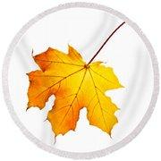 Fall Maple Leaf Round Beach Towel by Elena Elisseeva