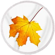 Fall Maple Leaf Round Beach Towel