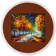 Fall Marathon Round Beach Towel