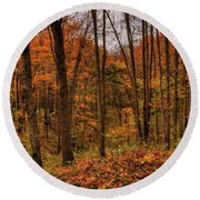 Fall On The Ice Age Trail Round Beach Towel