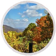 Fall Overlook Round Beach Towel