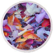 Fall Purples  Round Beach Towel