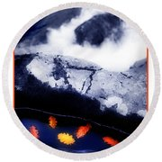 Fall Quintet Round Beach Towel
