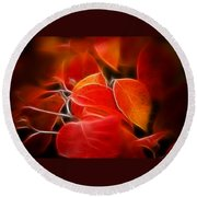 Fall Red 6675 Round Beach Towel