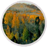 Fall Ridge Round Beach Towel