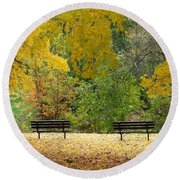 Fall Series 12 Round Beach Towel