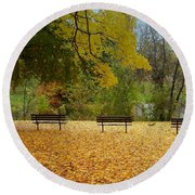 Fall Series 13 Round Beach Towel