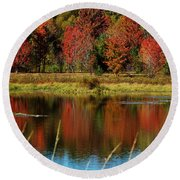 Fall Splendor Round Beach Towel