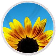 Fall Sunrise Round Beach Towel
