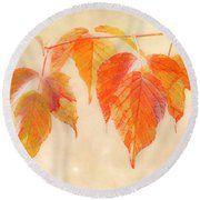 Fall Together Round Beach Towel