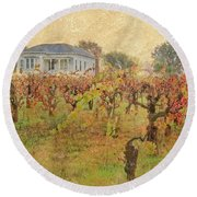 Fall Vines Round Beach Towel