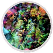 Fall Watercolor Round Beach Towel