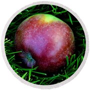 Fallen Apple Round Beach Towel