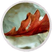 Fallen Leaf Round Beach Towel