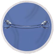 Falling Droplet Round Beach Towel