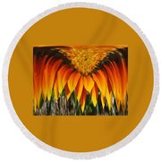 Falling Fire Round Beach Towel