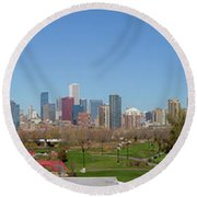 Falling For Chicago Round Beach Towel