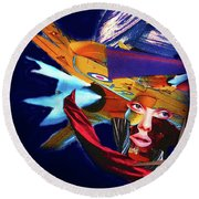 Falling To Pieces Round Beach Towel