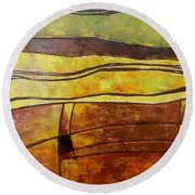 Fallow Ground Round Beach Towel