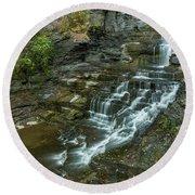 Falls Creek Gorge Trail Round Beach Towel