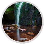 Falls In Bluff Country Round Beach Towel