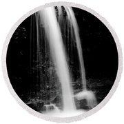 Falls In The Smokies Round Beach Towel
