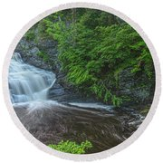 Falls Of Mystery Round Beach Towel