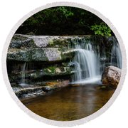 Falls Of Peterskill In Spring I - 2018 Round Beach Towel