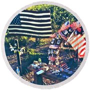 Families Remember Round Beach Towel