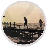 Family - Id 16235-142755-0546 Round Beach Towel