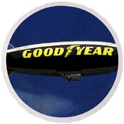 Famous Flyer Round Beach Towel