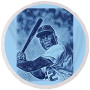 Famous Jackie Robinson Round Beach Towel